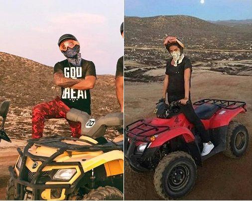 Anitta encontra Lewis Hamilton no México