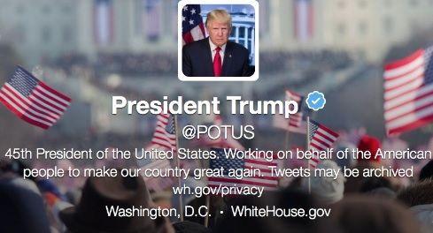 Trump usa foto da posse de Obama em seu Twitter