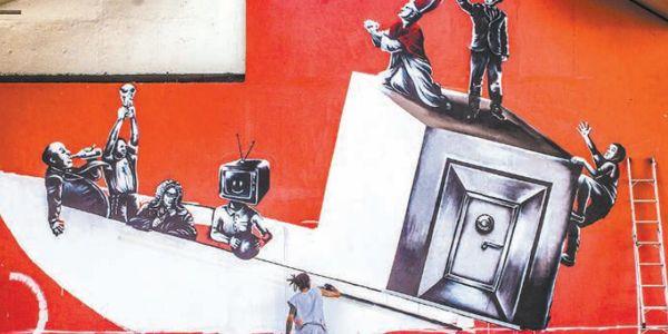 """Entre 2015 e 2016, outro projeto parecido da prefeitura, o """"Telas Urbanas"""", contou com o apoio de 83 artistas / FMC/DIVULGAÇÃO"""