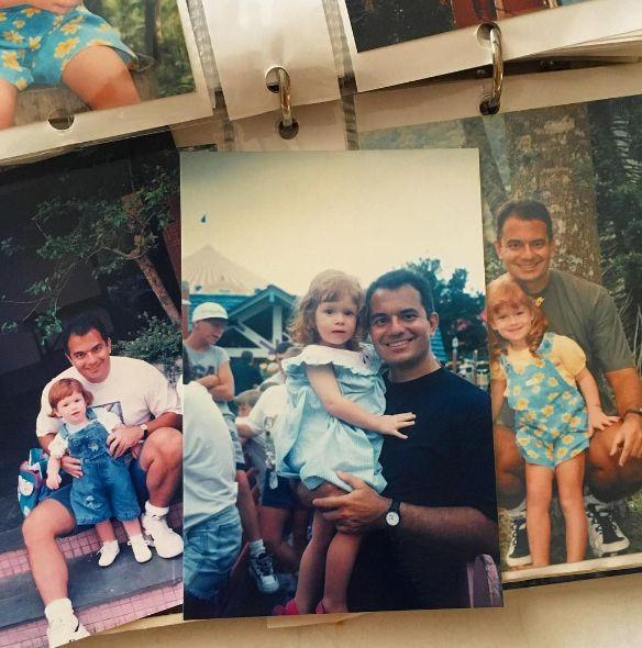 Marina Ruy Barbosa exibe fotos da infância com o pai