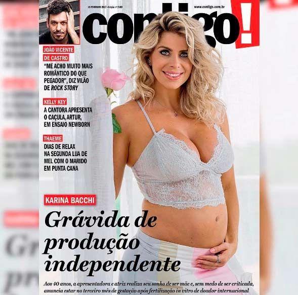 Karina Bacchi engravida após procedimento de fertilização in vitro