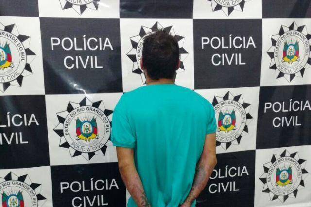 O homem de 28 anos foi preso na manhã desta sexta-feira em Vacaria / Divulgação/Polícia Civil
