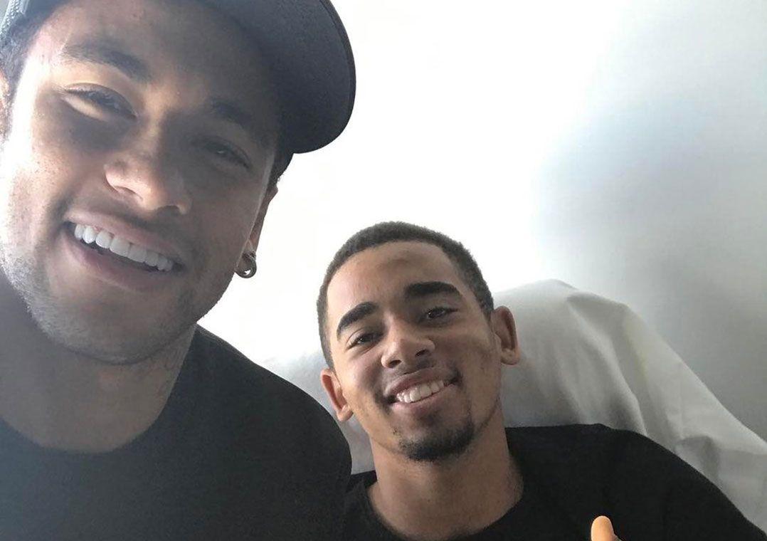 Neymar e Gabriel Jesus são companheiros de Seleção Brasileira / Reprodução/Twitter