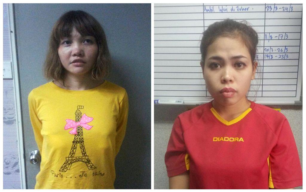 Suspeitas são indiciadas por assassinato de Kim Jong Nam