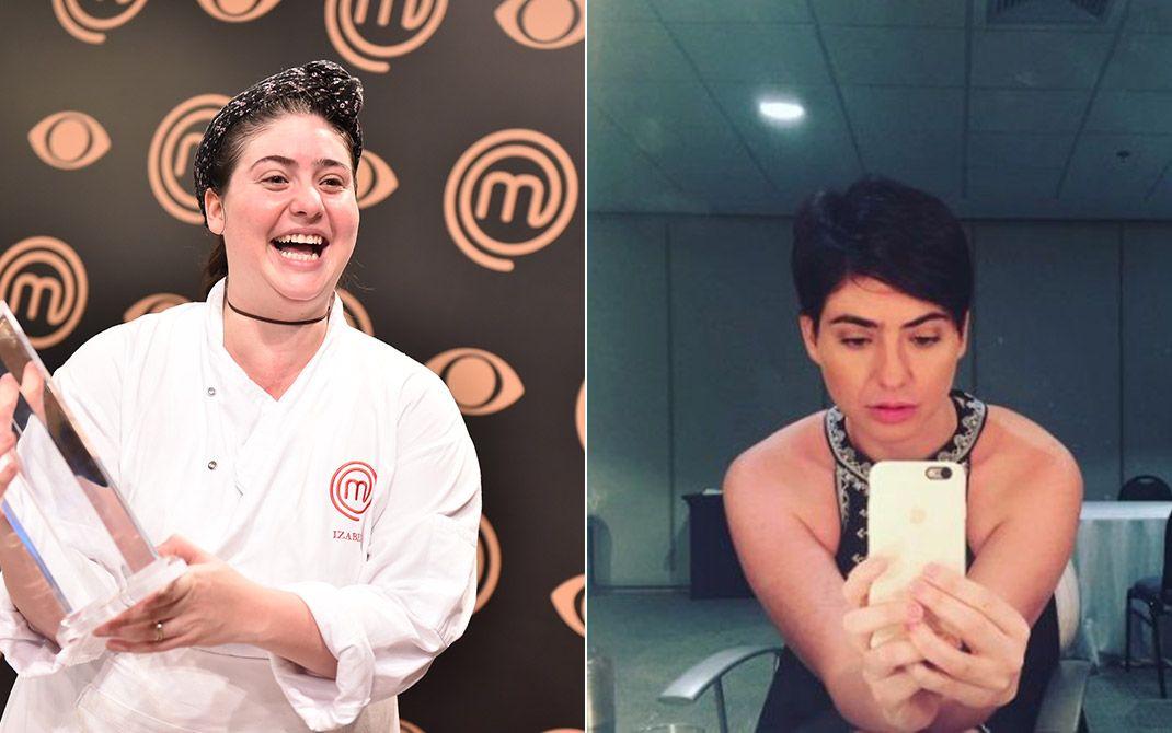 Izabel antes e depois de perder 35 quilos / Band/Divulgação/Instagram