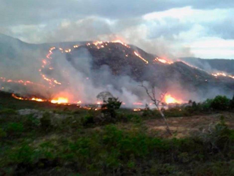 Incêndio de grandes proporções atinge parque na Chapada Diamantina