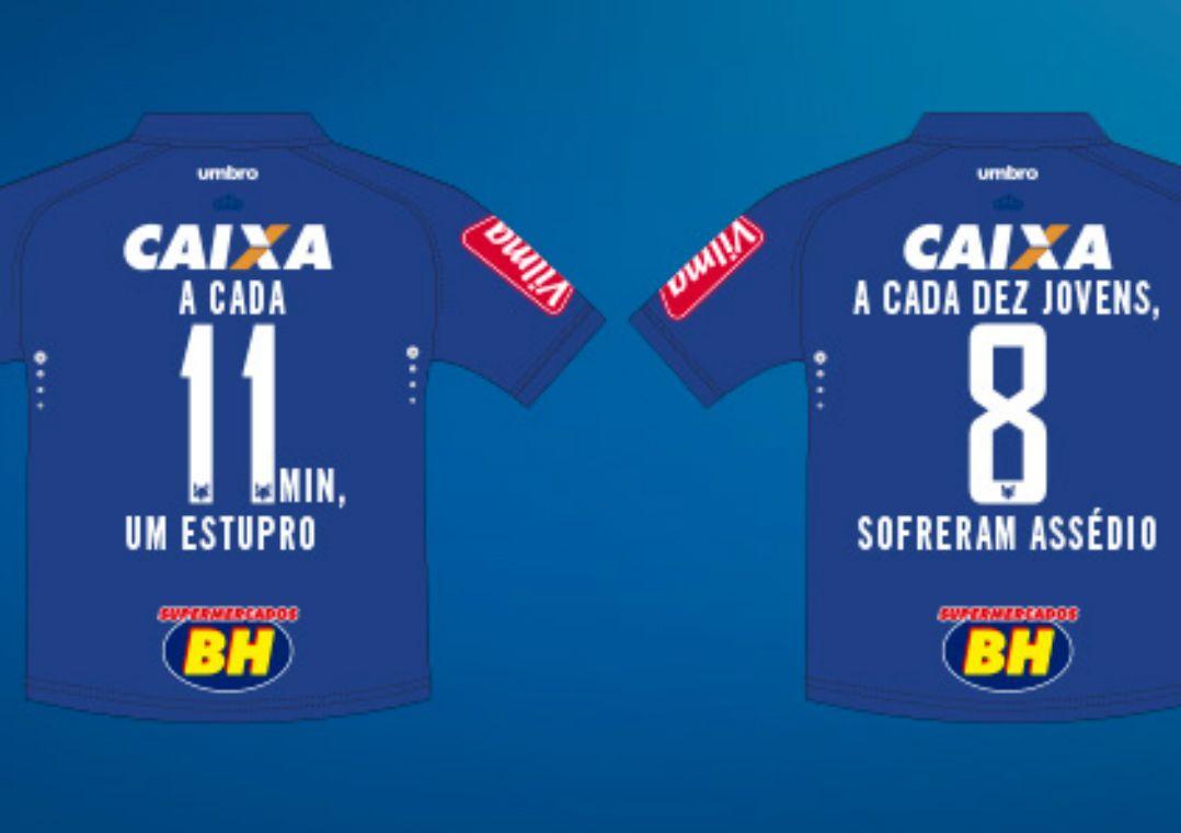 dfbb13a74f Cruzeiro faz homenagem histórica e lembra violência contra mulher ...