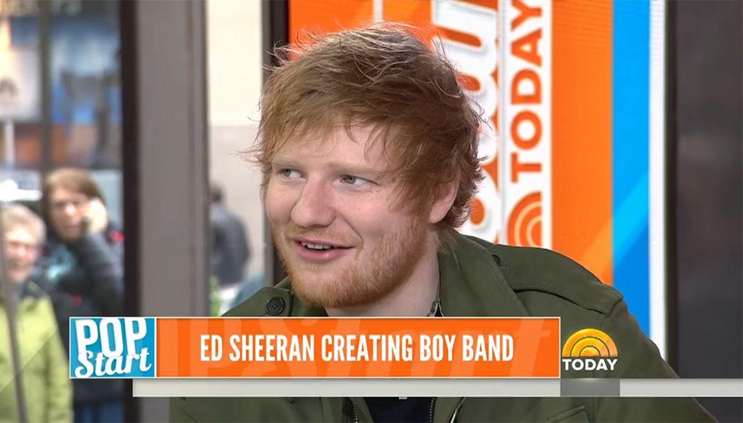 Ed Sheeran pretende criar sua própria boyband