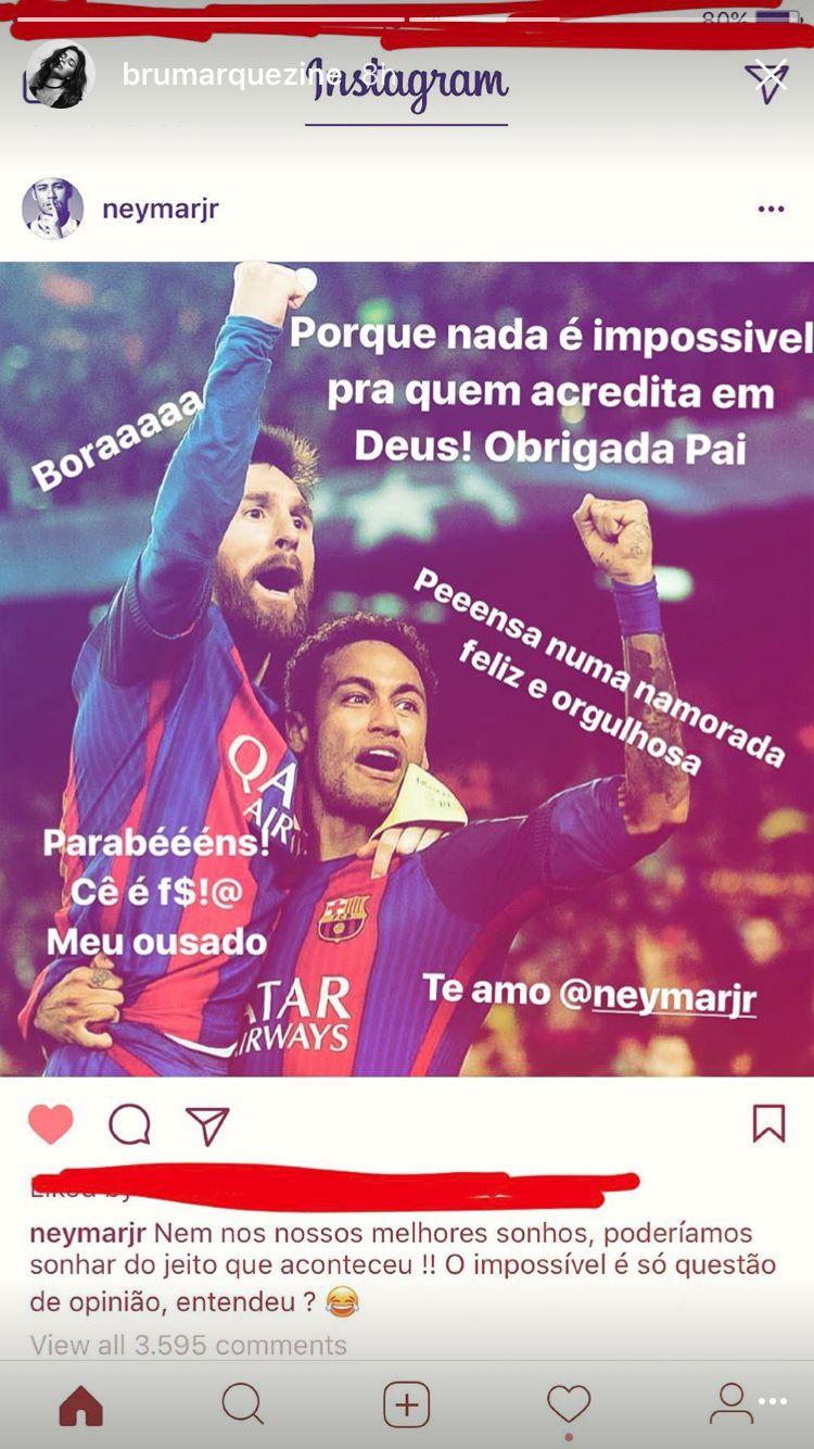 Bruna Marquezine se derrete por Neymar