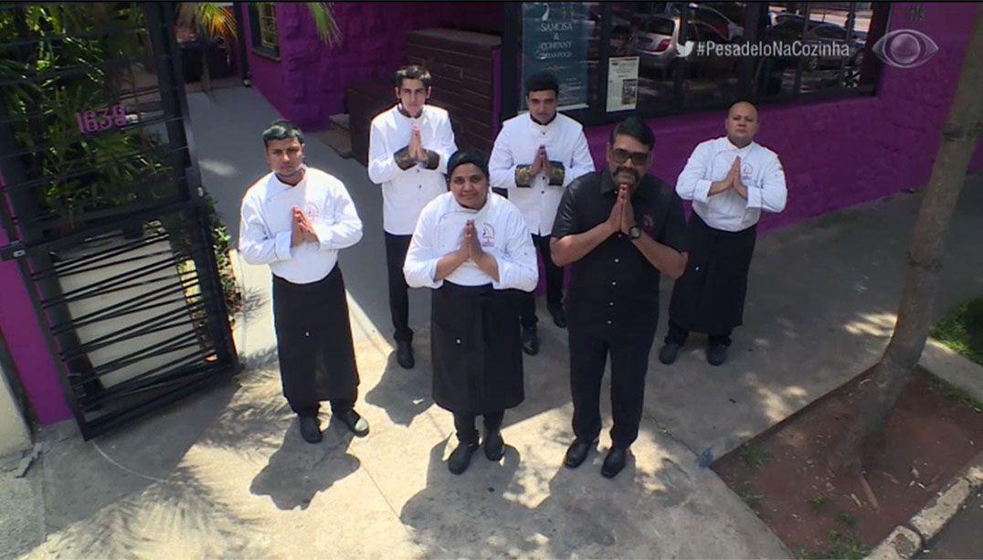 Equipe do Samosa se despede do Pesadelo na Cozinha