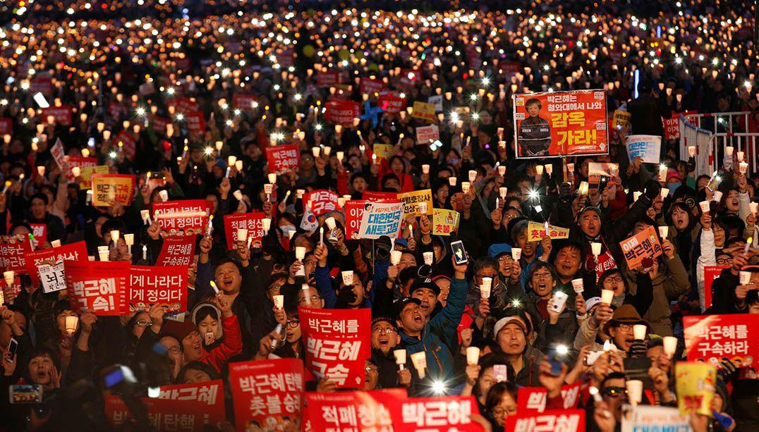 Milhares de sul-coreanos comemoram impeachment