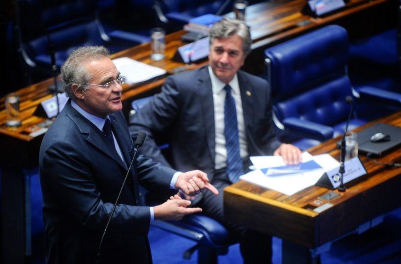 Em plenário, Renan subiu o tom contra o governo / Marcos Oliveira/Agência Senado