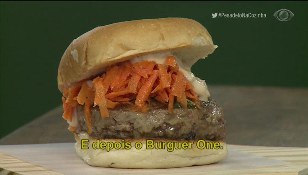 Jacquin cria hambúrguer com conhaque e raspas de limão