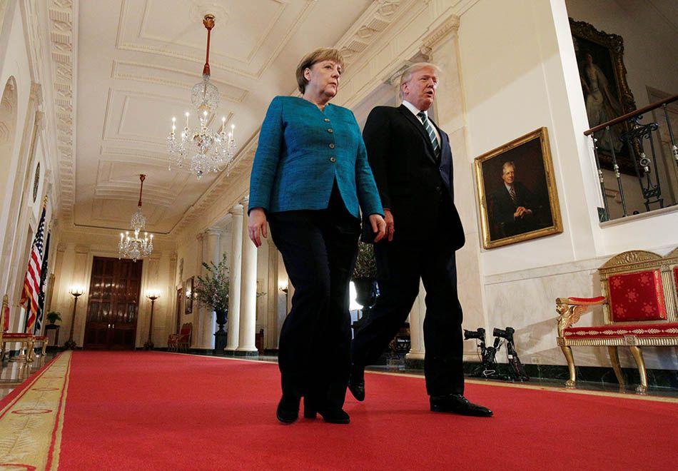 Trump discute sobre Otan e imigração em encontro com Merkel