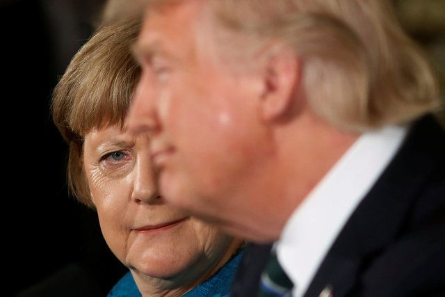 Reunião evidencia distância entre Trump e Merkel