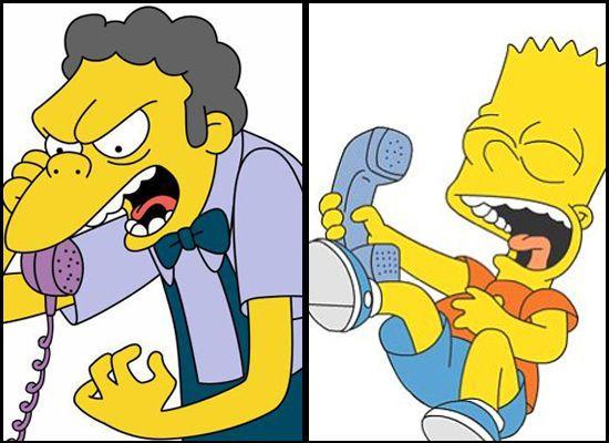 Moe e Bart vivem em pé de guerra / Divulgação