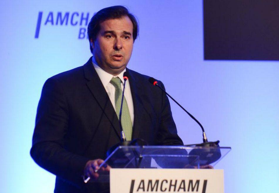Rodrigo Maia participou nesta segunda-feira de um evento na Câmara Americana de Comércio / Rovena Rosa/ABr