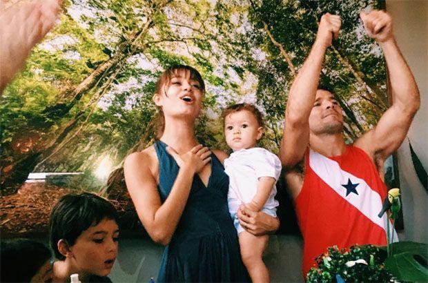 Sophie Charlotte e Daniel Oliveira comemoram 1 ano de Otto