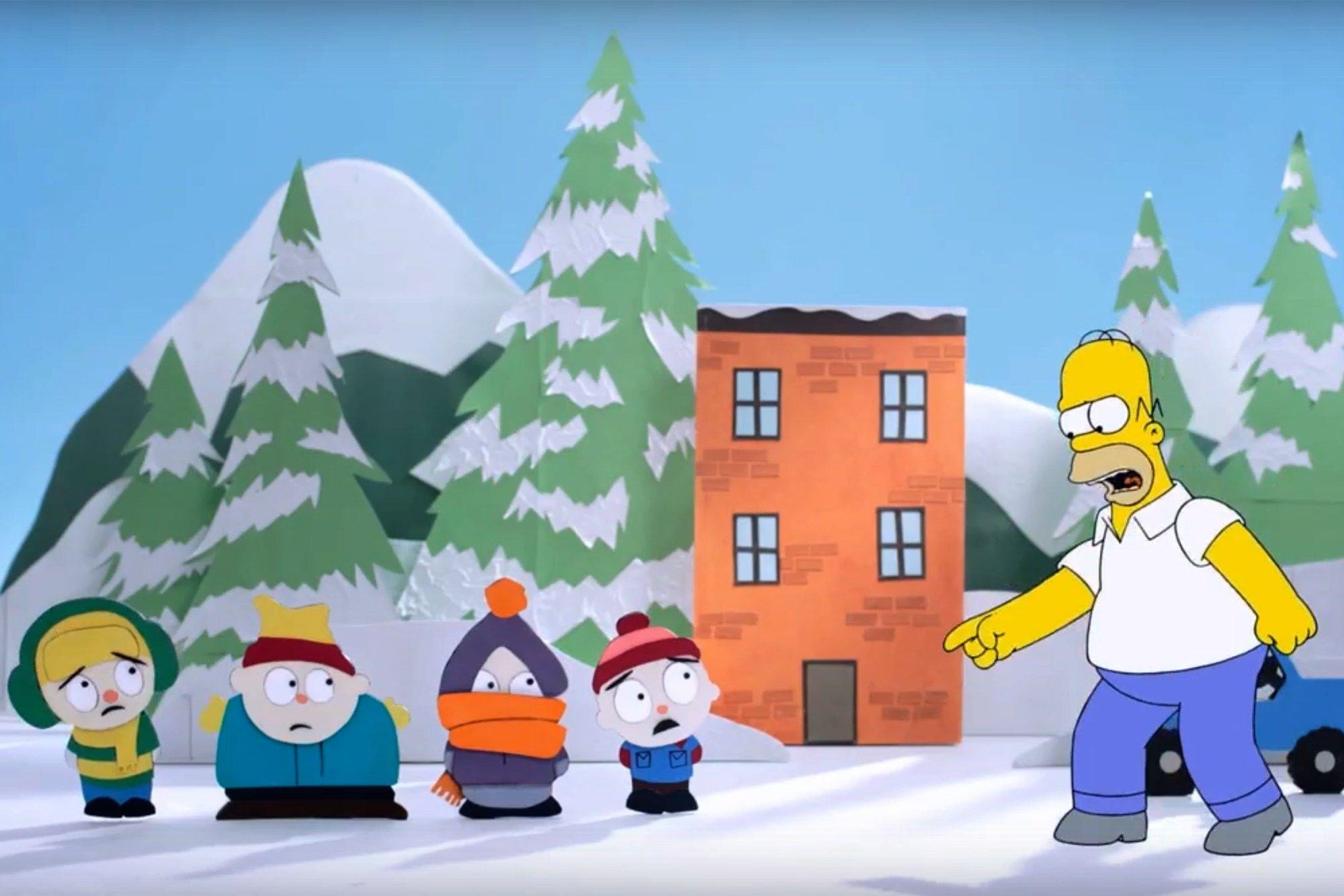 Homer invade outras animações em busca de seu quadro / Divulgação