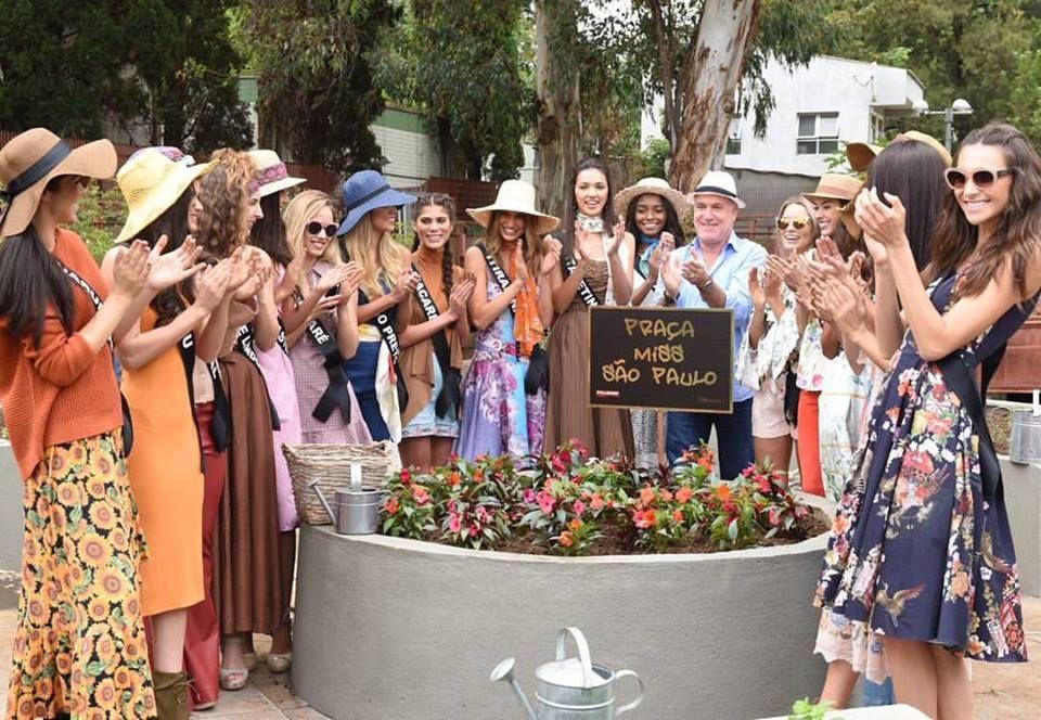 Misses fazem ação social e revitalizam Praça Victor Civita