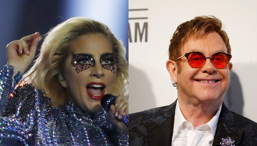 Lady Gaga e Elton John estão compondo juntos para Nasce Uma Estrela