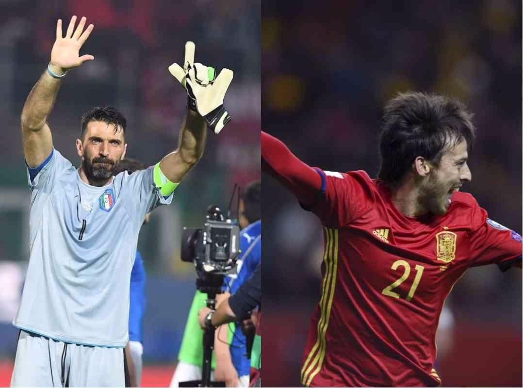 Itália e Espanha vencem e Buffon completa milésimo jogo