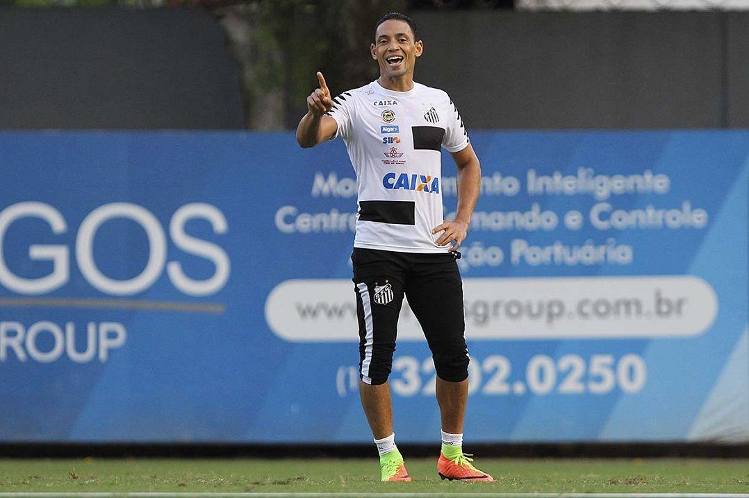 Caixa firmou contrato definitivo neste ano com o Santos (Foto   Reprodução Santos) 4c8911feb748d