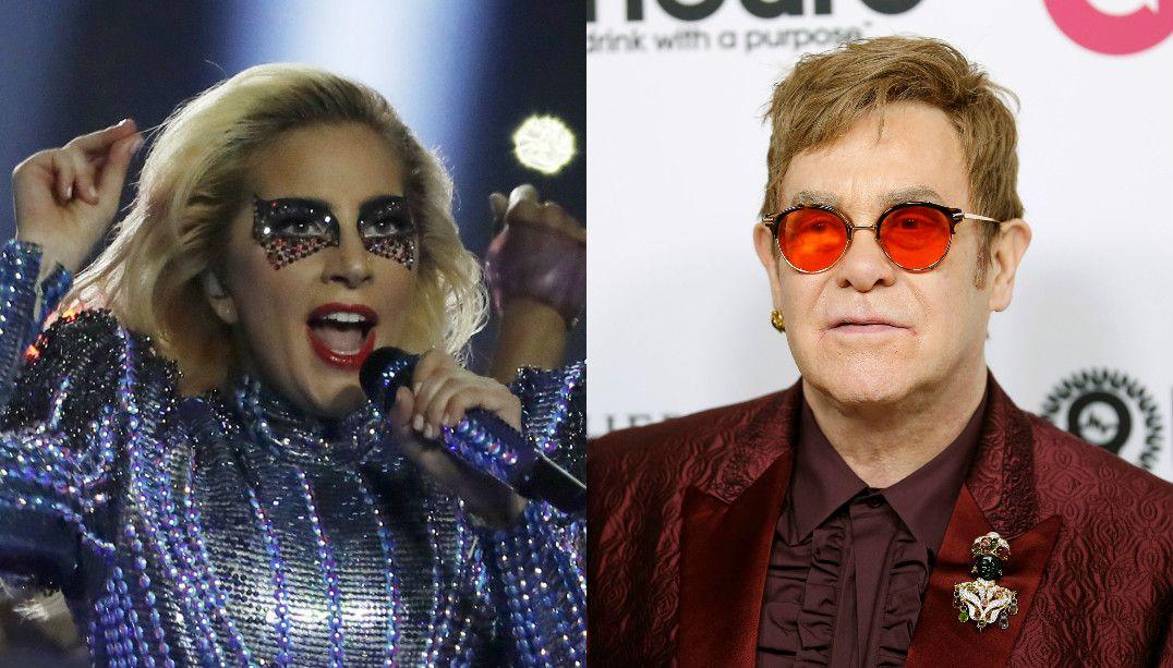 Lady Gaga canta seus hits no aniversário do Elton John