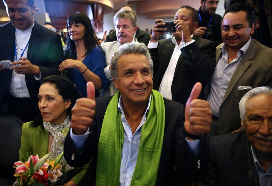 Moreno vence segundo turno das eleições presidenciais no Equador