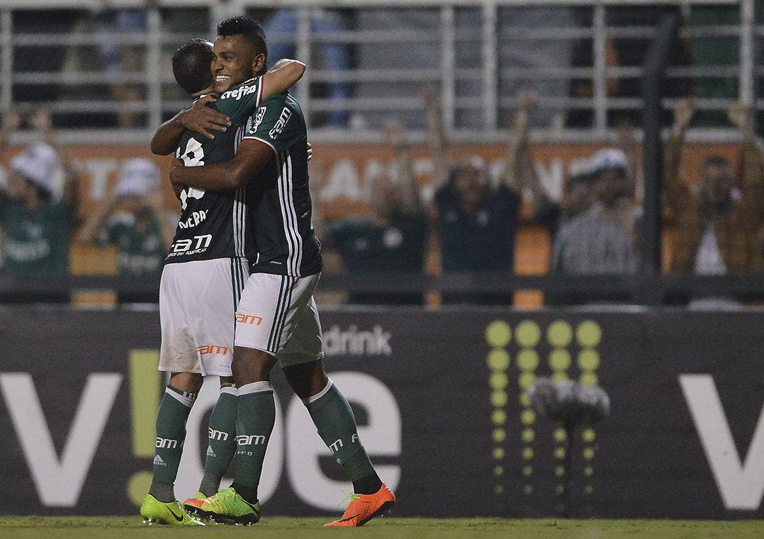 Borja recebeu passe de Guerra e marcou o segundo gol do Palmeiras contra o  Novorizontino (Foto  Mauro Horita Estadão Conteúdo) 79db2d8256160