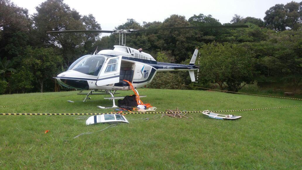 Criminosos roubam helicóptero na serra gaúcha