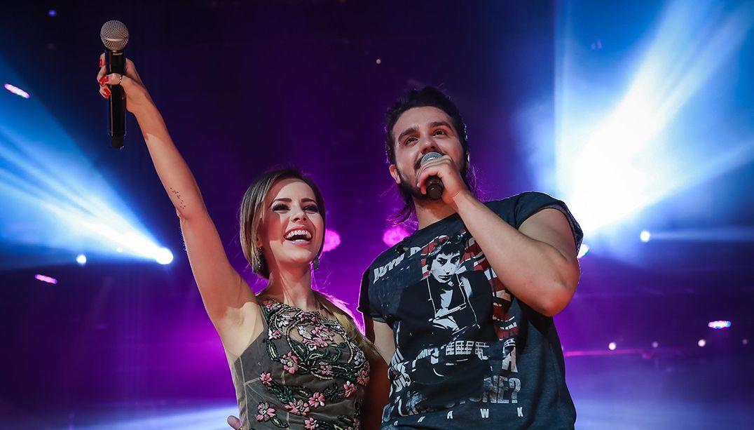 Sandy participa da nova turnê de Luan Santana