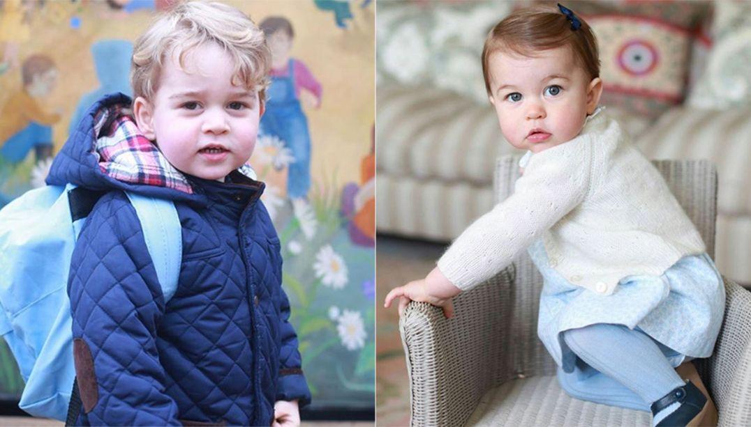 George e Charlotte serão pajem e daminha de tia