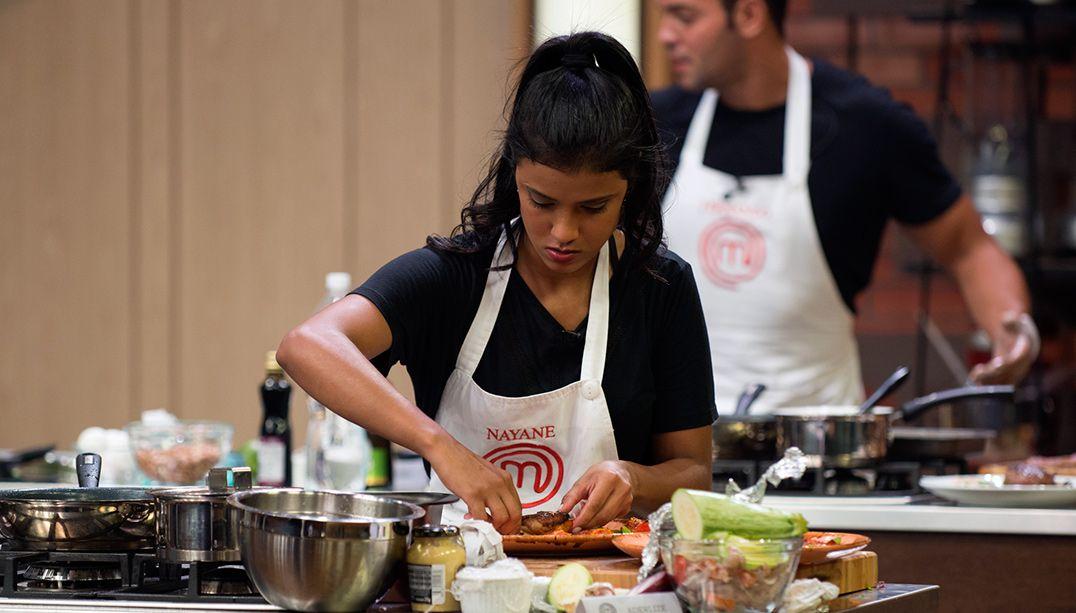 Tive de seguir a dica do chef Jacquin, diz Nayane Barreto
