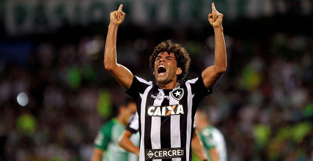 Camilo marcou o primeiro gol do Botafogo na Colômbia
