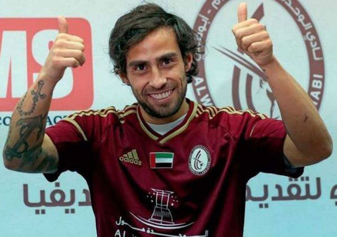 Último clube de Valdivia foi o Al-Wahda, dos Emirados Árabes Unidos / Divulgação/Al-Wahda
