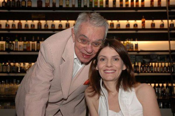 Chico Anysio e a esposa Malga di Paula