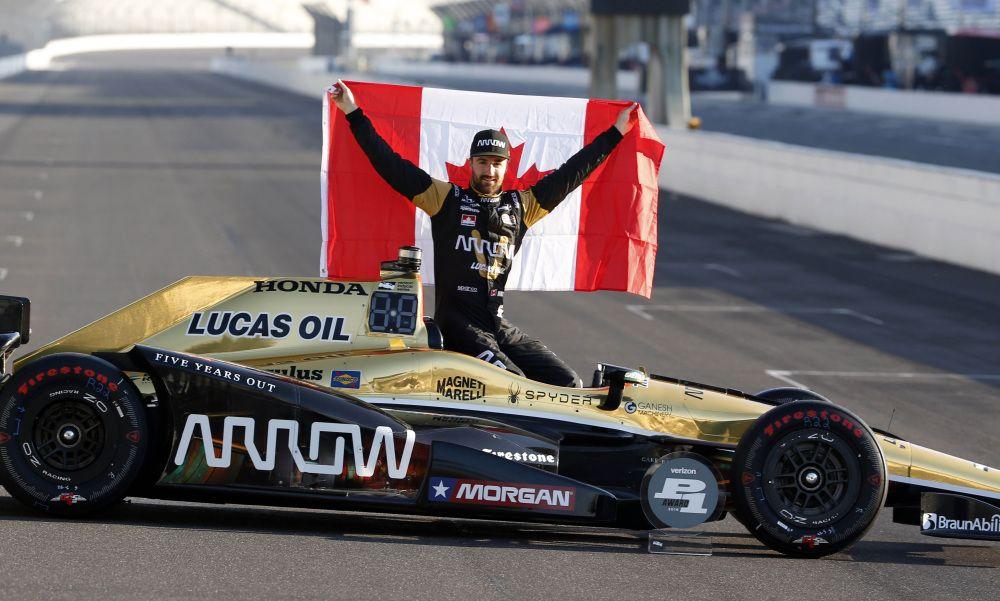 James Hinchcliff após vencer a etapa de indianápolis em 2016 / Divulgação - IndyCar