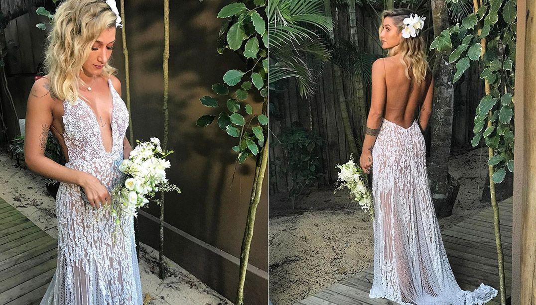 Gabriela Pugliesi se casa em cerimônia luxuosa em Trancoso