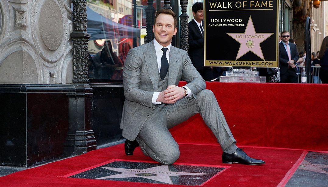 Chris Pratt ganha estrela na Calçada da Fama em Hollywood