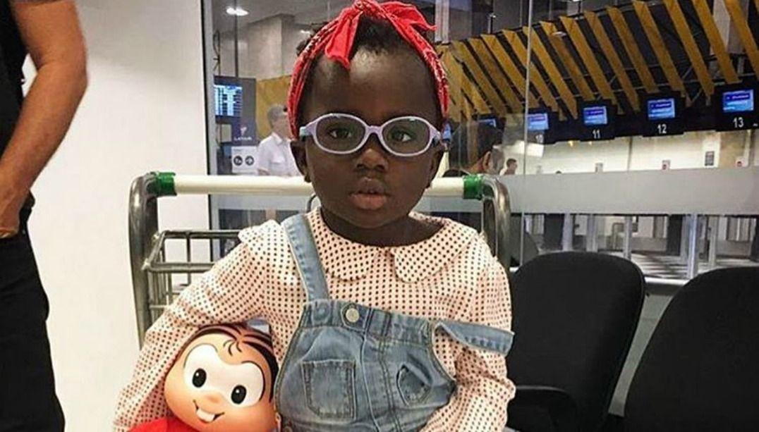 Chissomo, de 3 anos, foi adotada do Malawi / Divulgação/Instagram