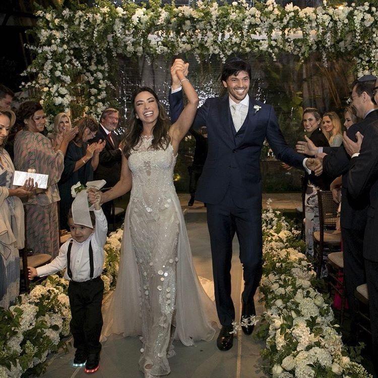 Patrícia e Fábio celebraram a união com familiares e amigos / Divulgação/Instagram