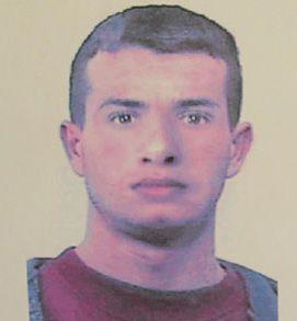 Retrato falado de um dos homens que participou do crime
