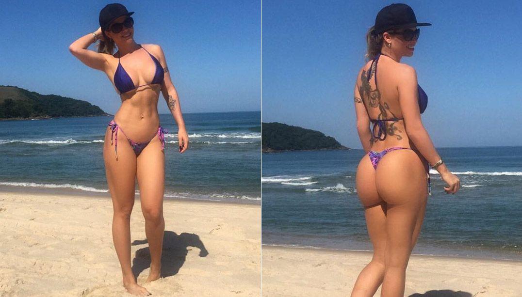Cacau Colucci ostenta curvas perfeitas em dia de praia