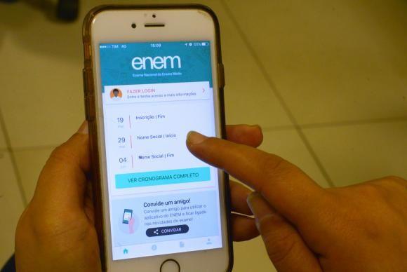 Estudantes já podem baixar o aplicativo do Enem