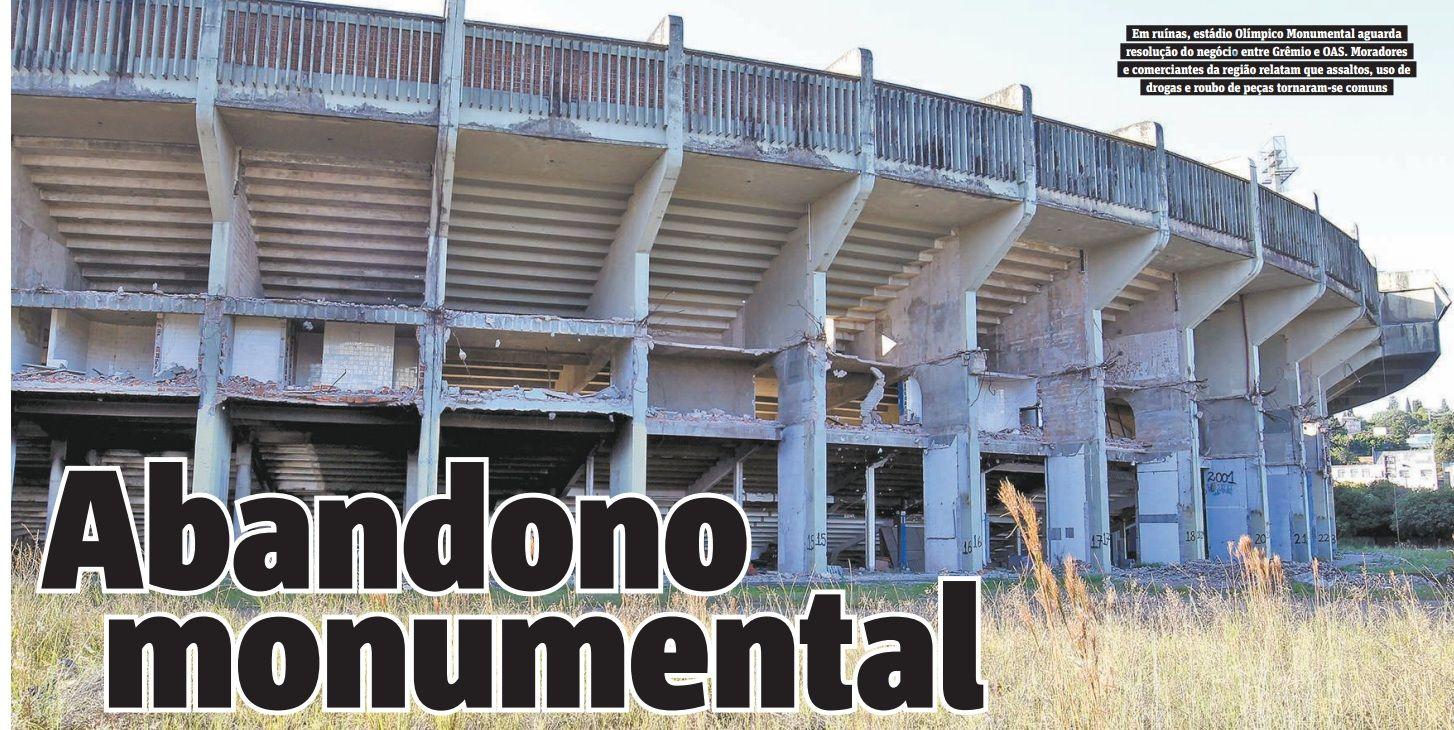 Palco de títulos históricos do Grêmio, estádio virou abrigo para moradores de rua e usuários de drogas / Itamar Aguiar / Agência Freelancer