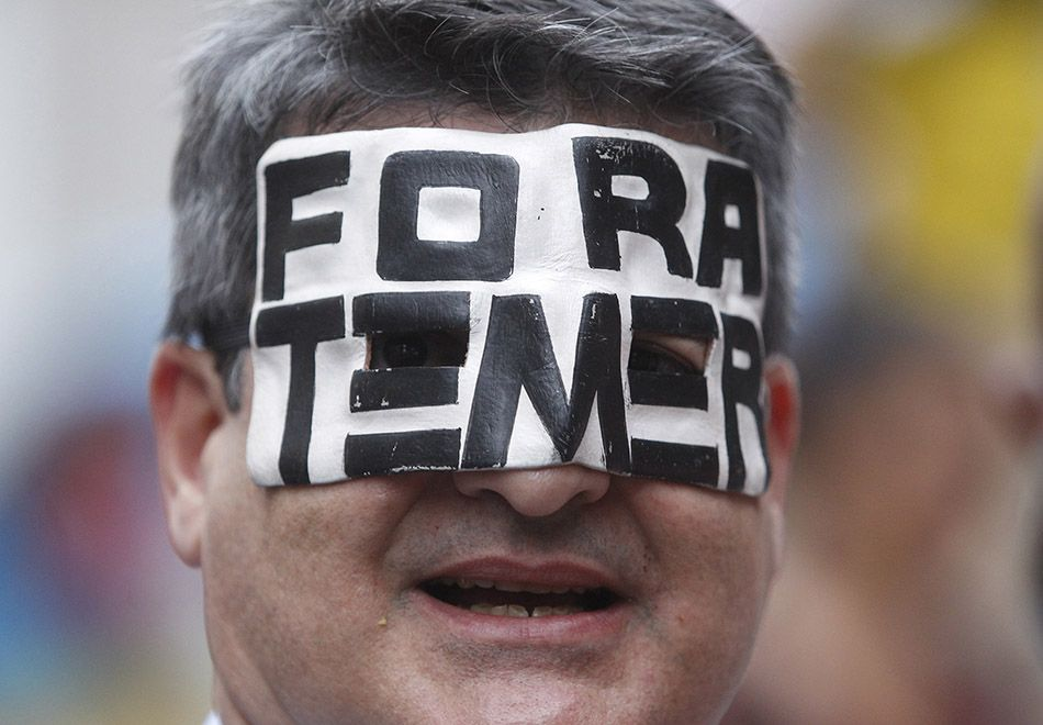 Ato pedindo renúncia de Temer acontece no Rio de Janeiro desde o final da tarde desta quinta-feira / Alexandre Brum/Estadão Conteúdo