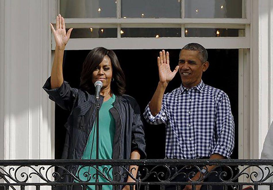 Ex-presidente norte-americano viajou acompanhado da esposa, Michelle Obama / Jonathan Ernst/Reuters