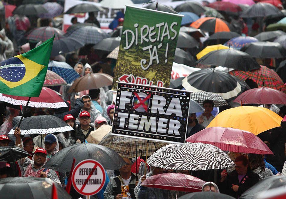 Ato contra Temer reúne manifestantes no MASP