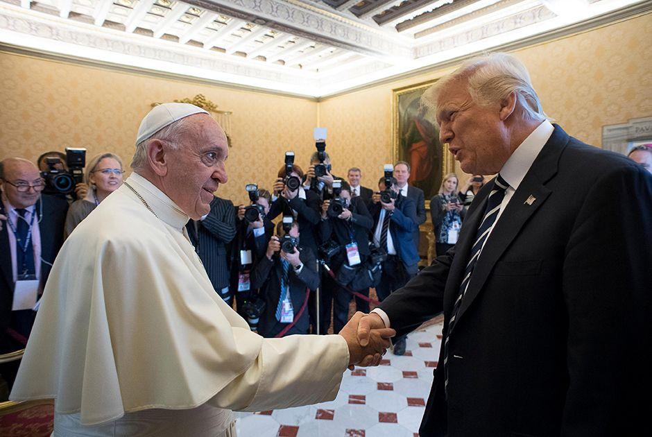 Papa recebe Trump no Vaticano; encontro dura 27 minutos